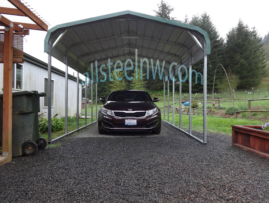 All Metal Carport : All steel northwest metal garage buildings carports to