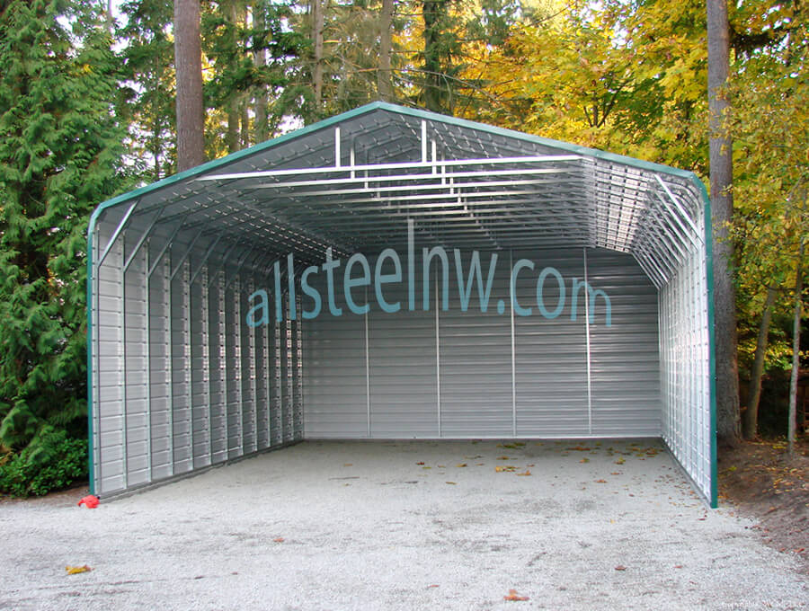 All Metal Carport : Triple wide carports all steel northwest