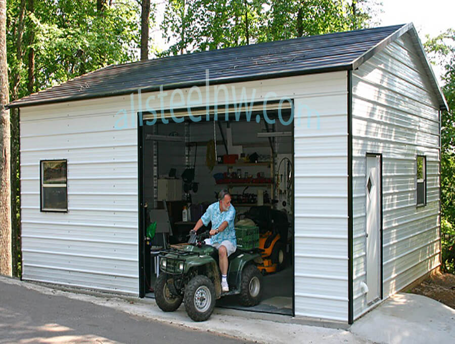 All Steel NW Metal Garages Product C-2