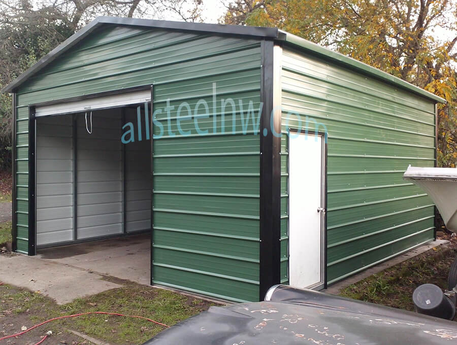 Metal sheds and metal garages all steel northwest for All metal houses