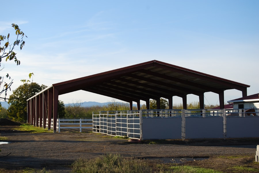 Gallery all steel northwest for Clear span garages