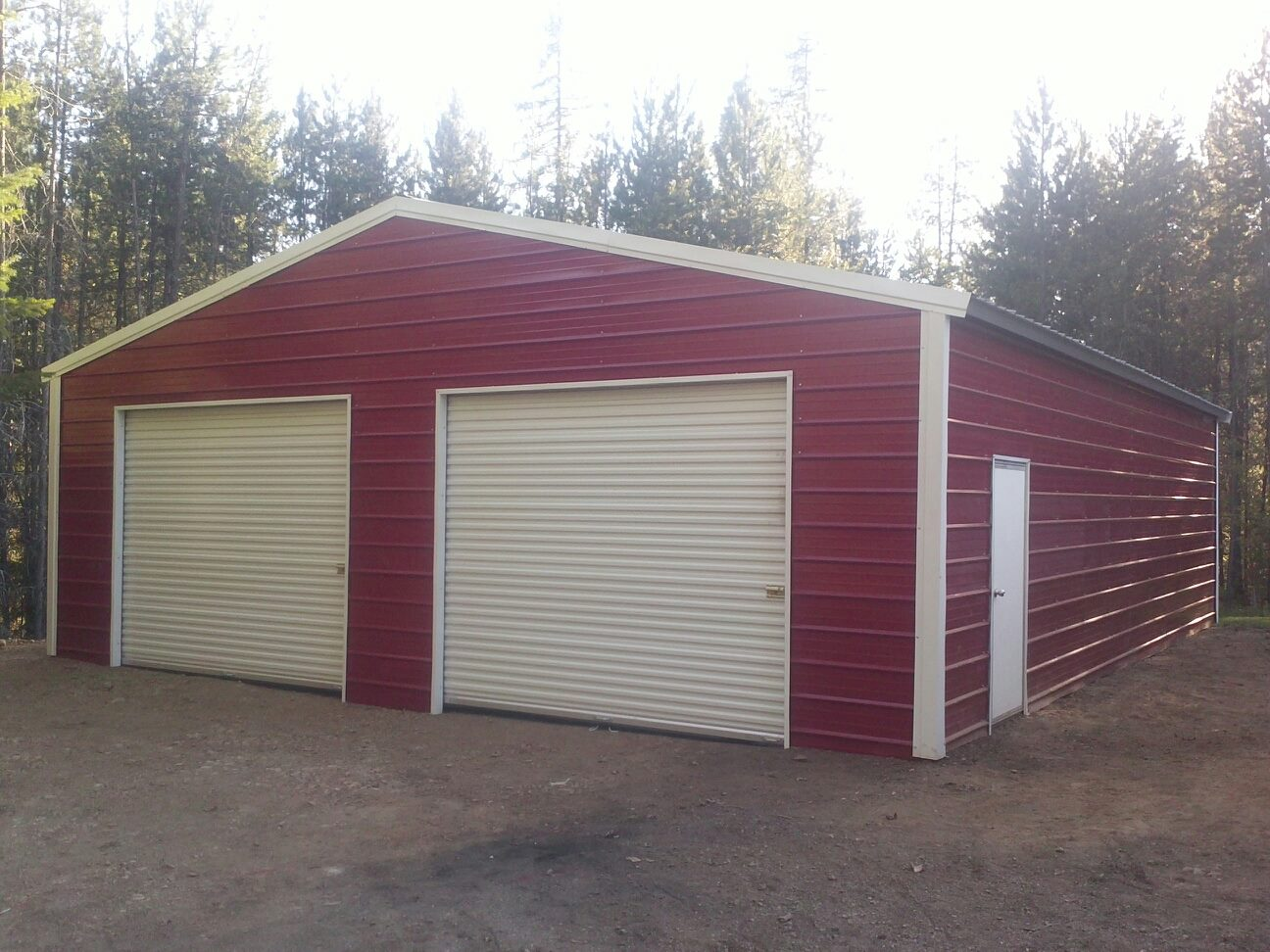Metal sheds metal garages all steel northwest for Appoggiarsi all aggiunta al garage