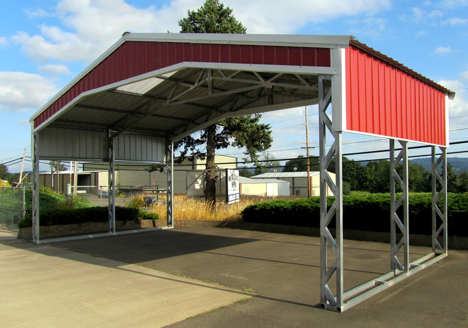 All steel northwest metal garage buildings carports in for Carports and garages