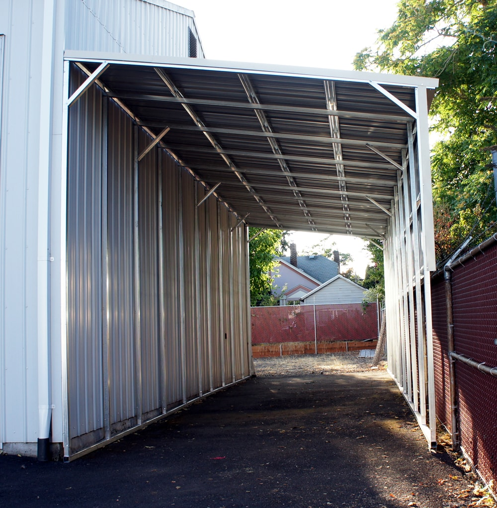 Lean to carports all steel northwest for All metal houses