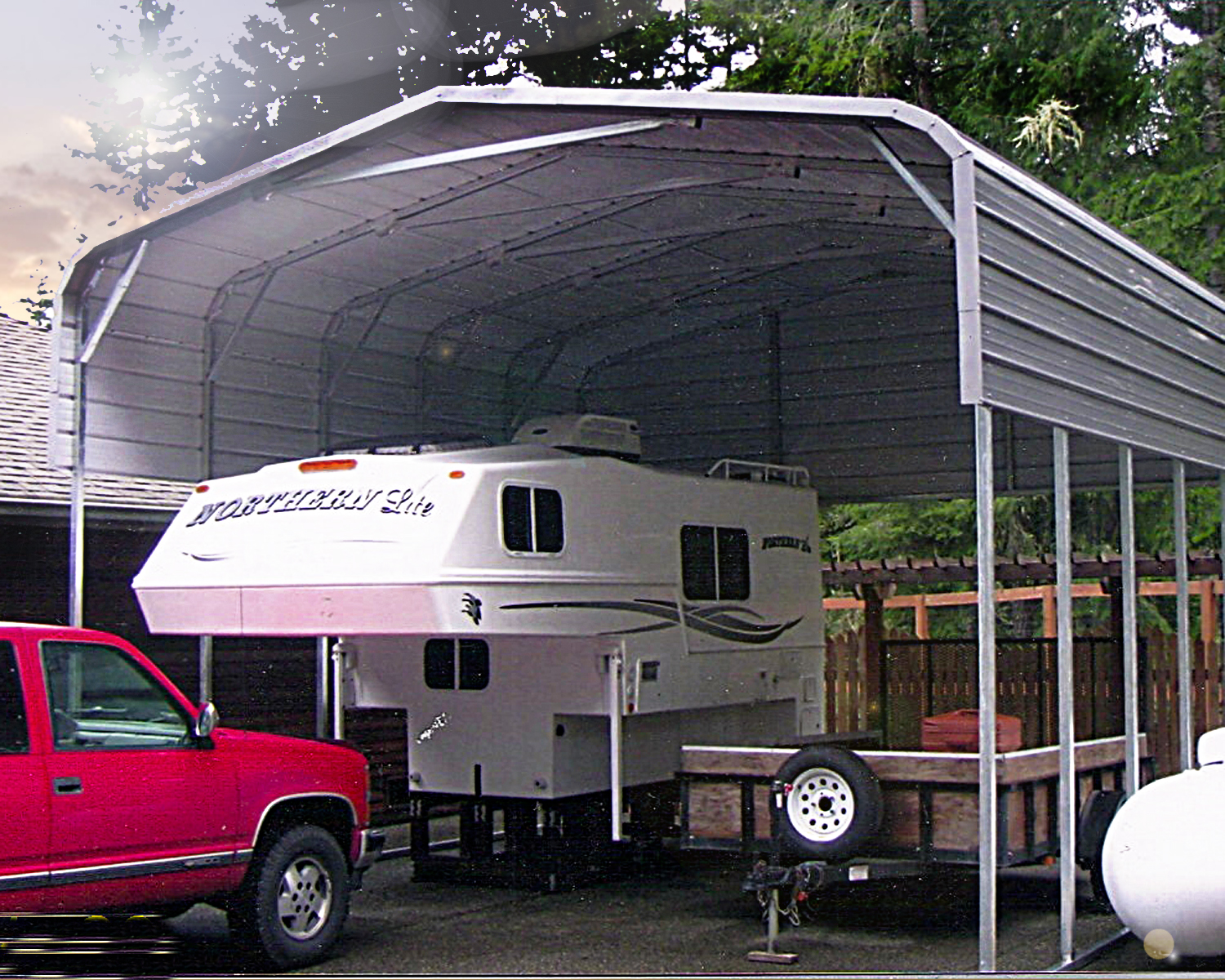 Stow and stay! Use your RV year round. You can with a steel structure from All Steel Northwest Building Solutions