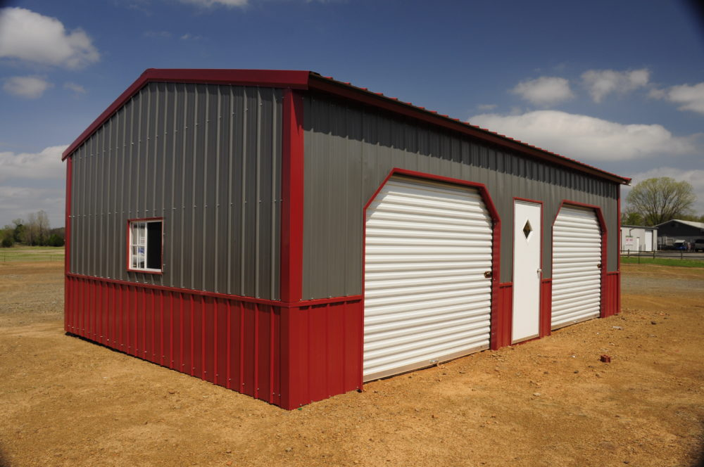 Colonial Garage Grey Red